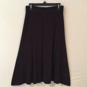 EUC Chico's Travelers Black Skirt Sz1 or SM